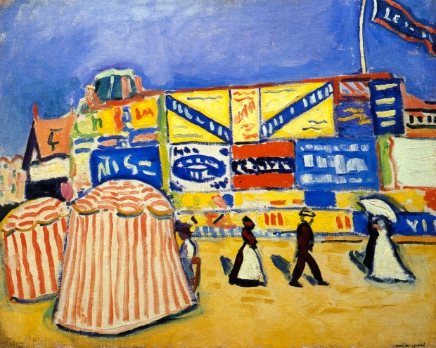 Albert Marquet – Posters at Trouville (1906)